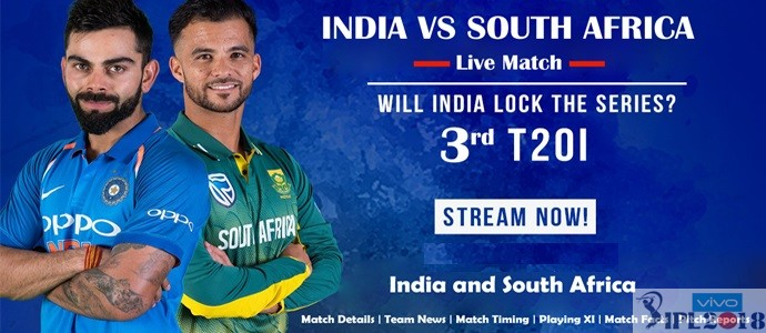 South Africa vs India 3rd T20 Live Streaming