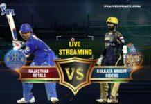 IPL 2018 RR Vs KKR Live Streaming