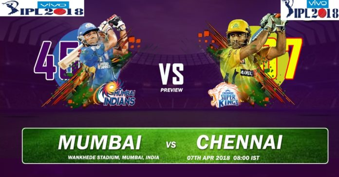 IPL 2018 MI Vs CSK 1st T20