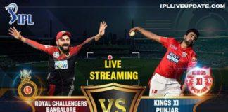 IPL 2018 RCB Vs KXIP 8th T20 Live Streaming