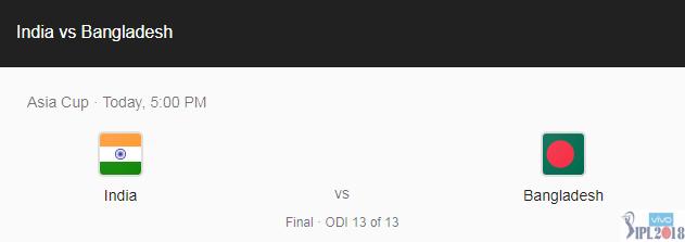 India vs Bangladesh, Live Cricket Score, Asia Cup 2018 Final at Dubai